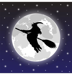 silhouette of a witch vector image