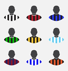 soccer icon vector image