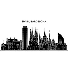Spain barcelona architecture city skyline vector
