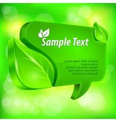 Speech green bubble vector image