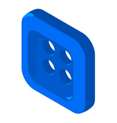 square button shirt icon isometric 3d style vector image