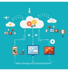 Storage and Synchronization vector image