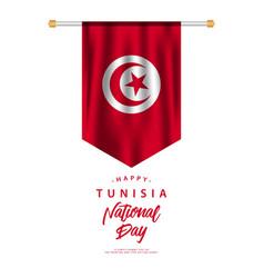 Tunisia national day template design vector