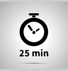 Twenty five minutes timer simple black icon vector