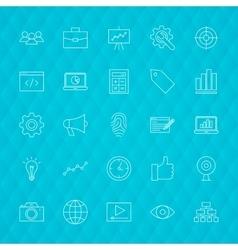 Web Development Line Icons vector
