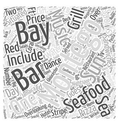 When the Sun Goes Down over Montego Bay Word Cloud vector