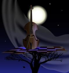 Wind nightly music vector
