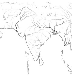 World map indian subcontinent india hindustan vector