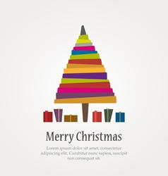 Christmas modern tree vector