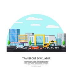 colorful transport evacuator concept vector image