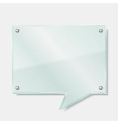 Glass Speech Bubble vector image vector image