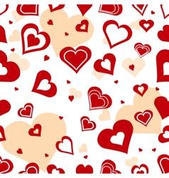 Seamless romantic background vector image