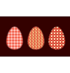 Three Easter eggs 1 vector image