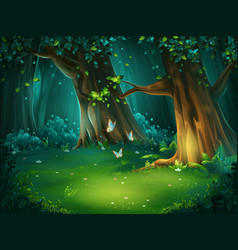 a forest glade vector image
