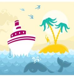 Adventures at Sea vector image vector image