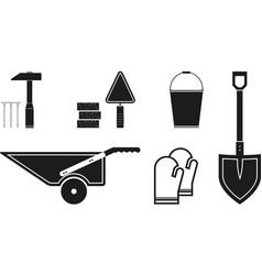 black tools icon vector image vector image
