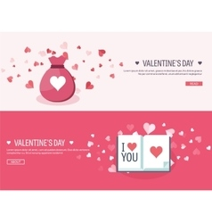 Flat background with bagbook vector image vector image