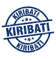 Kiribati blue round grunge stamp vector
