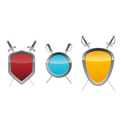 shields with swords vector image