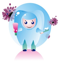 small toothchild vector image vector image