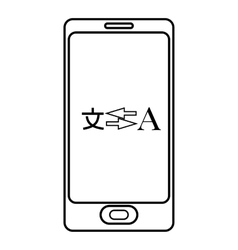 Translation from japanese to english on phone icon vector image