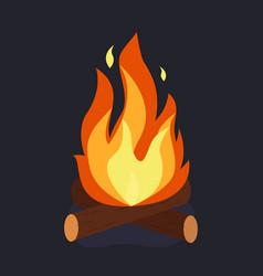 bonfire and burning vector image