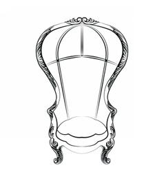 Contemporary outdoor lounge chair vector