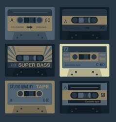 cool vintage audio cassettes vector image
