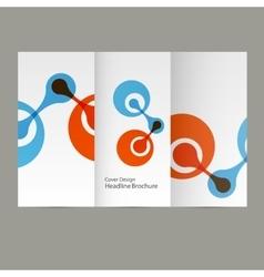 Molecule atom design template background vector image vector image