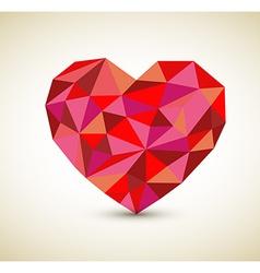 retro heart vector image