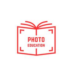 simple photo education logo vector image vector image