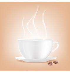 Smoking coffee cup vector image vector image