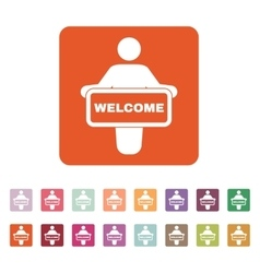 The welcom icon Invite symbol Flat vector image