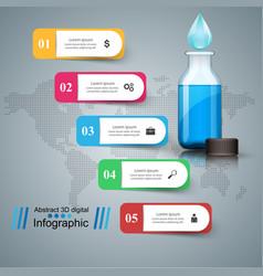Bottle water infographics vector