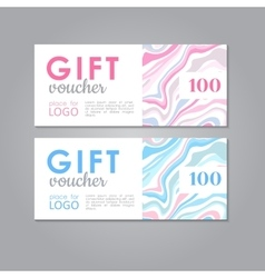 Gift Voucher business discount template vector image