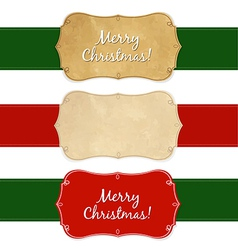 Set Vintage Christmas Labels vector image vector image