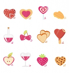 sweets with love concept vector image vector image