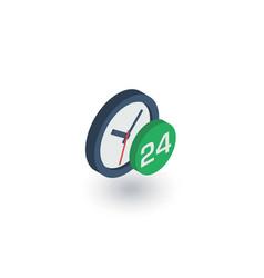 24 hour around clock day and night isometric vector