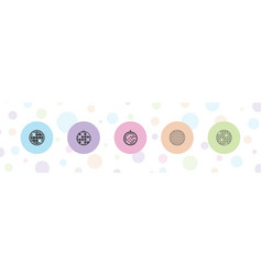 5 glitter icons vector