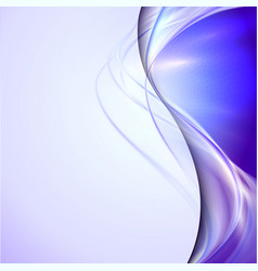 Abstract blue waving background vector image
