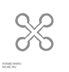 Adinkra symbol nyame nnwu na me wu vector