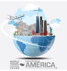 America landmark global travel and journey vector