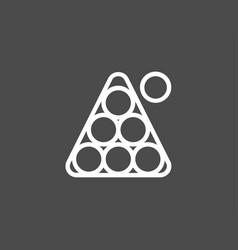 Billiard icon sign symbol vector