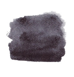 Black watercolor spot vector