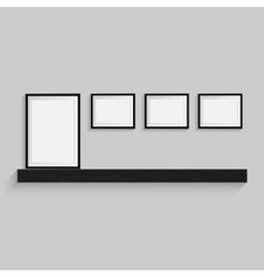Blank frame on a white background vector image