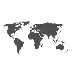 Blank political world map vector