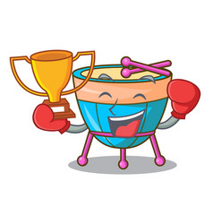 boxing winner cartoon timpani isolated on the vector image