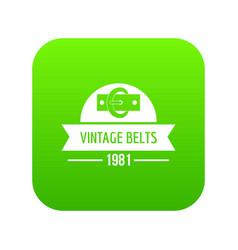 Buckle vintage icon green vector