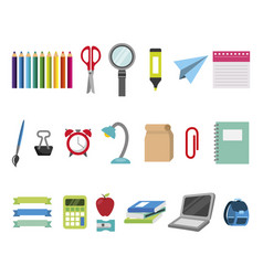 Bundle education learning set icons vector