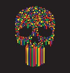 bunny skull wallpaper vector image